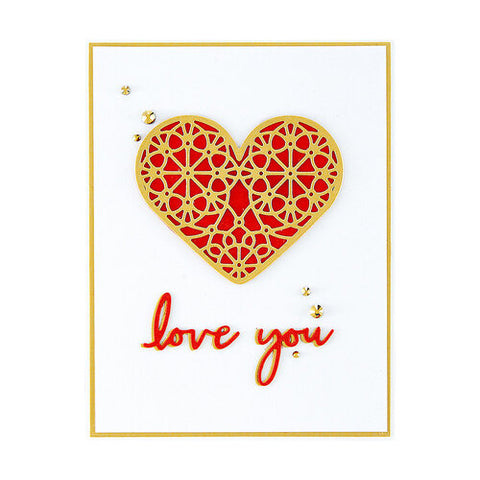 Spellbinders - Expressions of Love Sentiments Etched Dies from Expressions of Love Collection