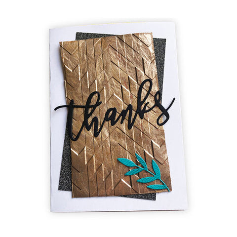 Sizzix 3-D Textured Impressions Embossing Folder - Staggered Chevrons