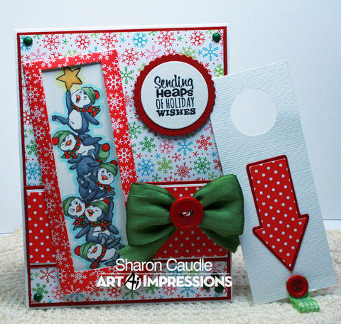 Art Impressions - Penguin Stackers Stamp