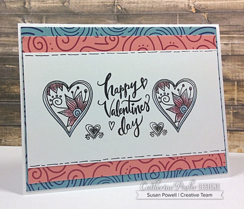 Catherine Pooler - Doodle Hearts Stamp and Dies