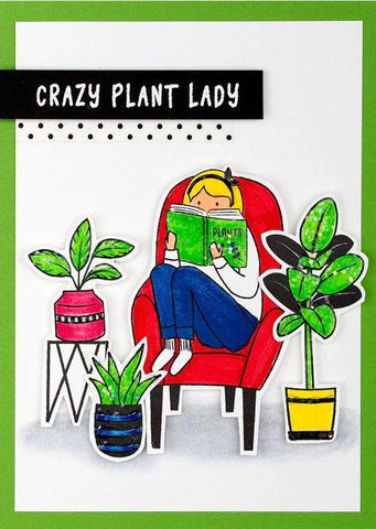 Spellbinders - Plants Lady Stamp from Take Time for You Collection