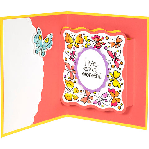 Stampendous - Winged Frame Perfectly Clear Stamps Set
