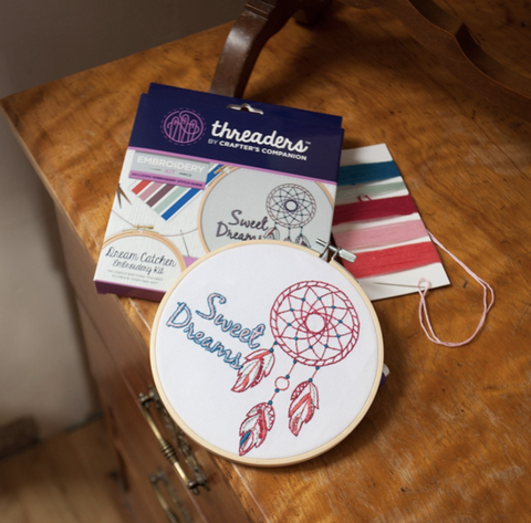 Crafters Companion Threaders Embroidery Kit - Dream Catcher