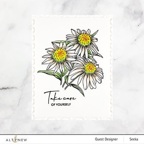 Altenew - Paint-A-Flower: White Swan Echinacea Outline Stamp Set