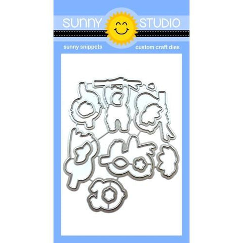 Sunny Studio Stamps - Silly Sloths, cards with Leanne and Elousie