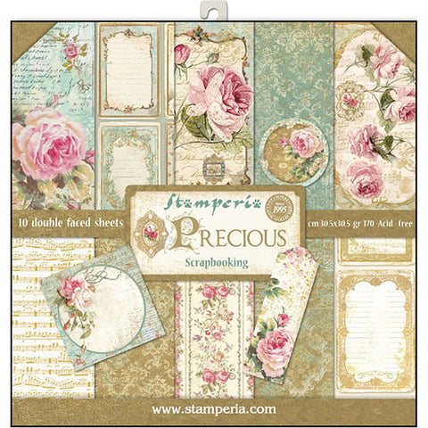 Stamperia - Pack 10 sheets double face 30,5x30,5 - Precious Gift