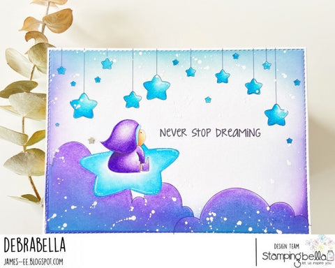 Stampingbella - Cling Stamps - Stars And Clouds Backdrop