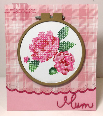Waffle Flower - Stitched Roses Stamp