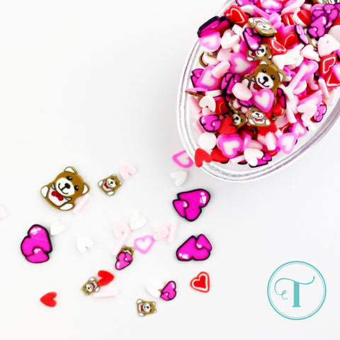 Trinity Stamps Love You Beary Much Clay Embellishment Mix