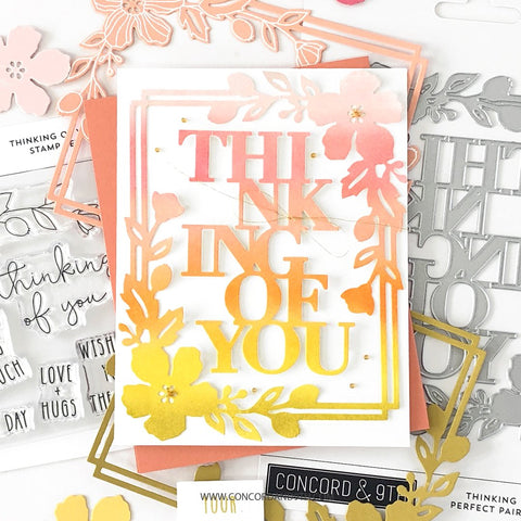 Concord & 9th - Thinking of You 4X4 Stamp Set
