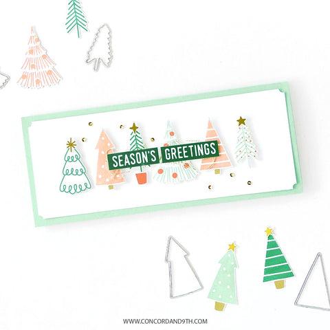 Concord & 9th - Tiny Trees Turnabout Stamp Set