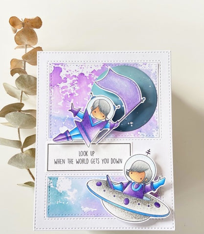 Stampingbella - Cling Stamps - Tiny Townie Astronauts