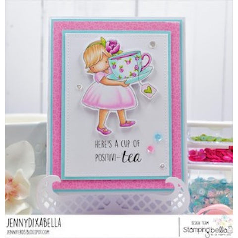 Stampingbella - Cling Stamps - Tiny Townie Loves Tea