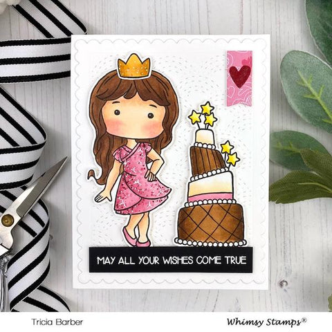 Whimsy Stamps - Polka Dot Pals Ophelia Clear Stamps