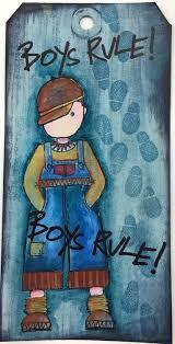 PaperArtsy - JOFY43 Boys will be Boys Stamp