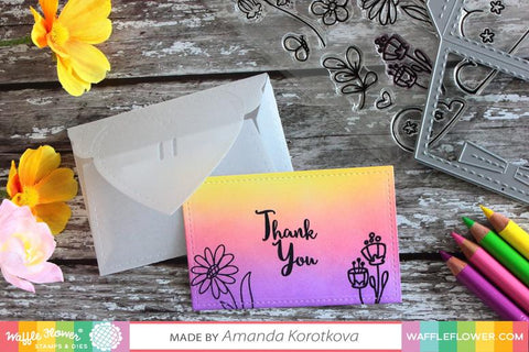 Waffle Flower - Mini Trifold Notes & Love Notes Dies