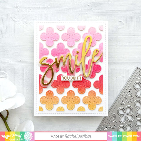 Waffle Flower - Pennant Banners Stencil