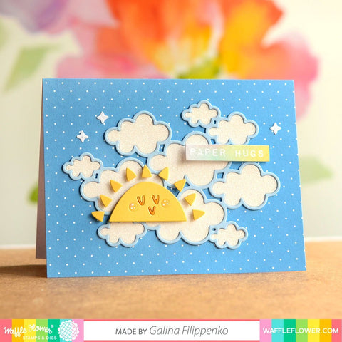 Waffle Flower - Outlined Clouds Die