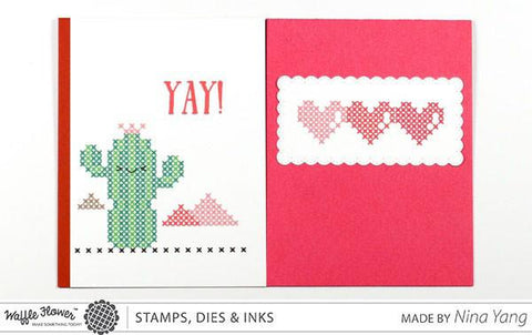 Waffle Flower - Stitched Cacti Stamp