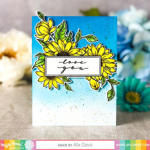 Waffle Flower - Sunflower Love Stamp and Die