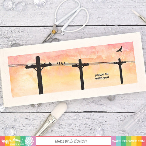 Waffle Flower - Power Lines Stamp Set