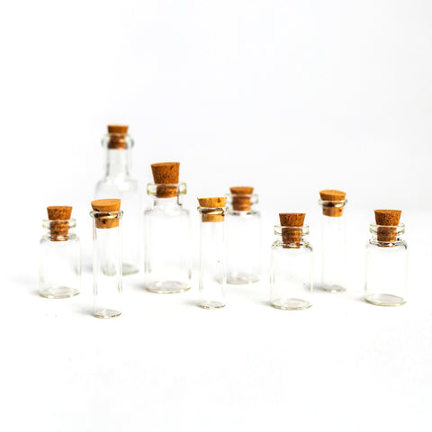 Jewelery Made by Me - Clear Glass Bottle 9pc