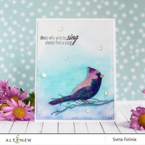 Altenew - Winter Cardinal Stamp and Die