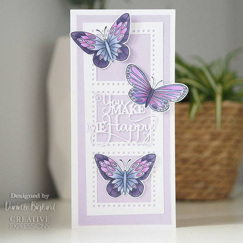Woodware Clear Singles Mini Wings – Common Blue 2.6 in x 1.7 in Stamp