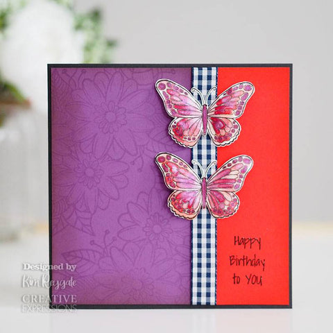 Woodware Clear Singles Mini Wings – Marsh Fritillary 2.6 in x 1.7 in Stamp