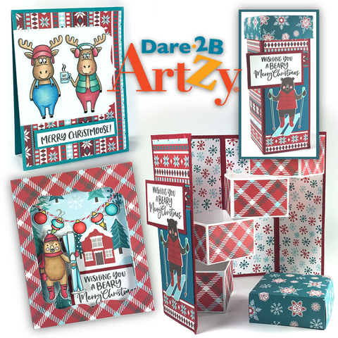 Dare 2B Artzy - Snow Much Fun - Frosty Chalet Paper Pack