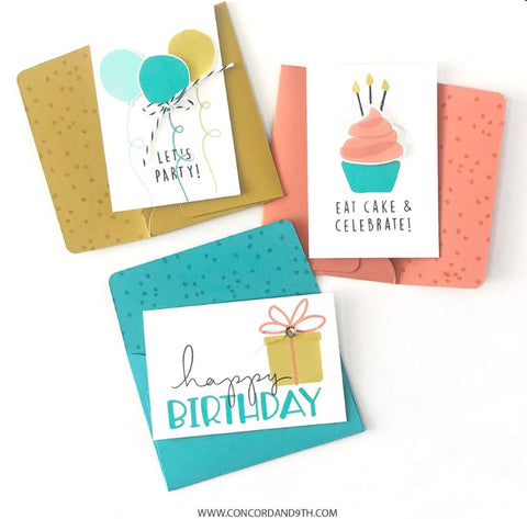 Concord & 9th - Yay for Brithdays - Stamp Set