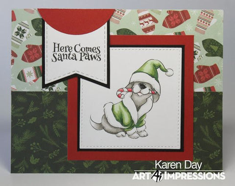 Art Impressions Clear Stamp Set - Santa Paws