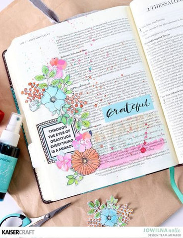 KaiserCraft - Bible Journaling - Blessed Layout Tutorial