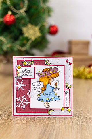 Crafter's Companion - Annabel Spenceley Photopolymer Stamp - Be Merry and Bright