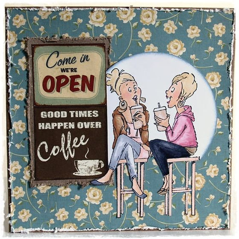 Art Impressions - Coffee BFFs Stamp Set