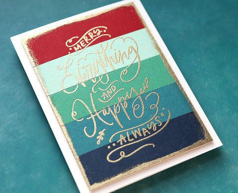 Colorado Craft Company - Savvy Sentiments Merry Everything Clear Stamps