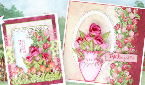 Heartfelt Creations Tulip Time Cling Stamp Set
