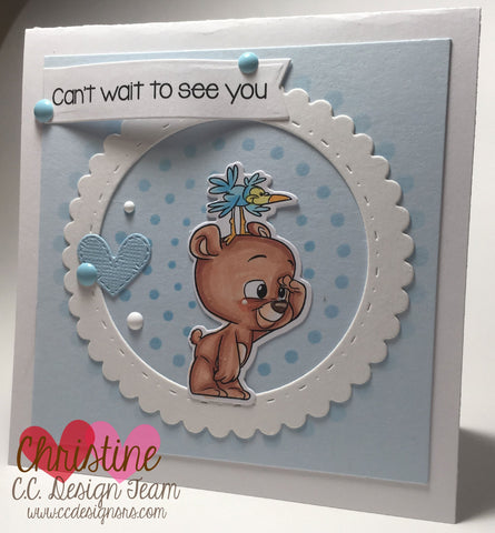 C.C. Designs - Bears Clear Stamps and Dies