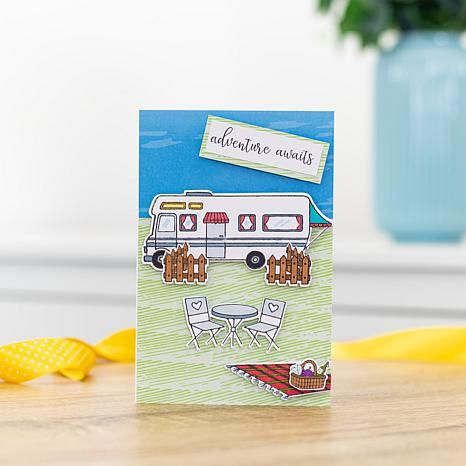 Crafters Companion Gemini Staycation Road Trip Stamp and Die