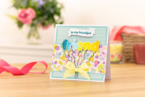 Crafter's Companion Craft Box Kit - Balloon Sentiments Stamp and Die Kit #19