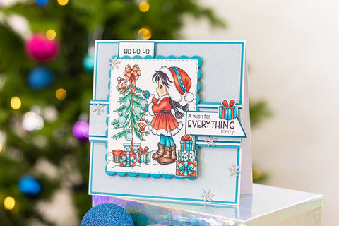 Crafter's Companion - Conie Fong Photopolymer Stamp - Sallys Christmas Friends