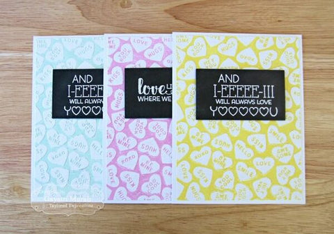 Taylored Expressions -  Embossing Folder - Conversation Hearts