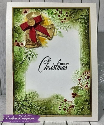 "Crafter's Companion 3D Embossing Folder 5""x7"" - Ring out the Bells Christmas"