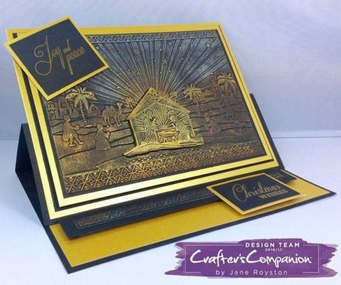 "Crafter's Companion 3D Embossing Folder 5""x7"" - Silent Night Christmas"