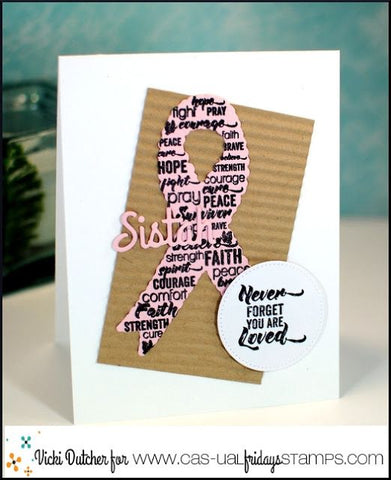 CAS-ual Fridays Stamps - Word Ribbon Stamp