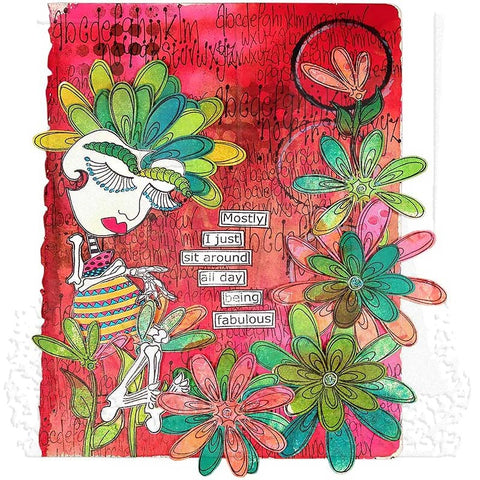 Dyan Reaveley - Dylusions Stamps Fancy Florals Stamp