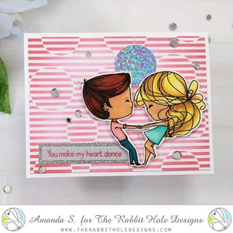 The Rabbit Hole Designs - Love you More - Heart Dance 4x4 Stamps