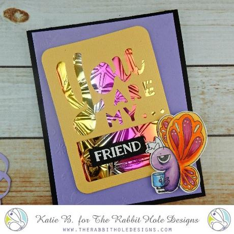 The Rabbit Hole Designs - Caffeinated - Butterfly 2x3 Stamp Set