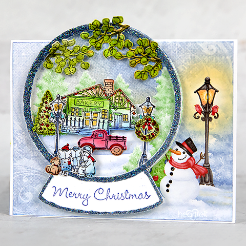 Heartfelt Creations - Festive Winterscapes Cling Stamp Set