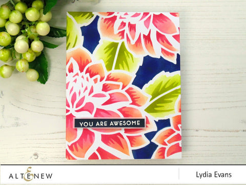 Altenew Layered Dahlia A&B Stencil Bundle